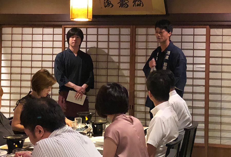 稲田屋米子店「白いかと夏のお酒を愉しむ会」という勉強会イベントを蔵元稲田本店と合同で開催しました!