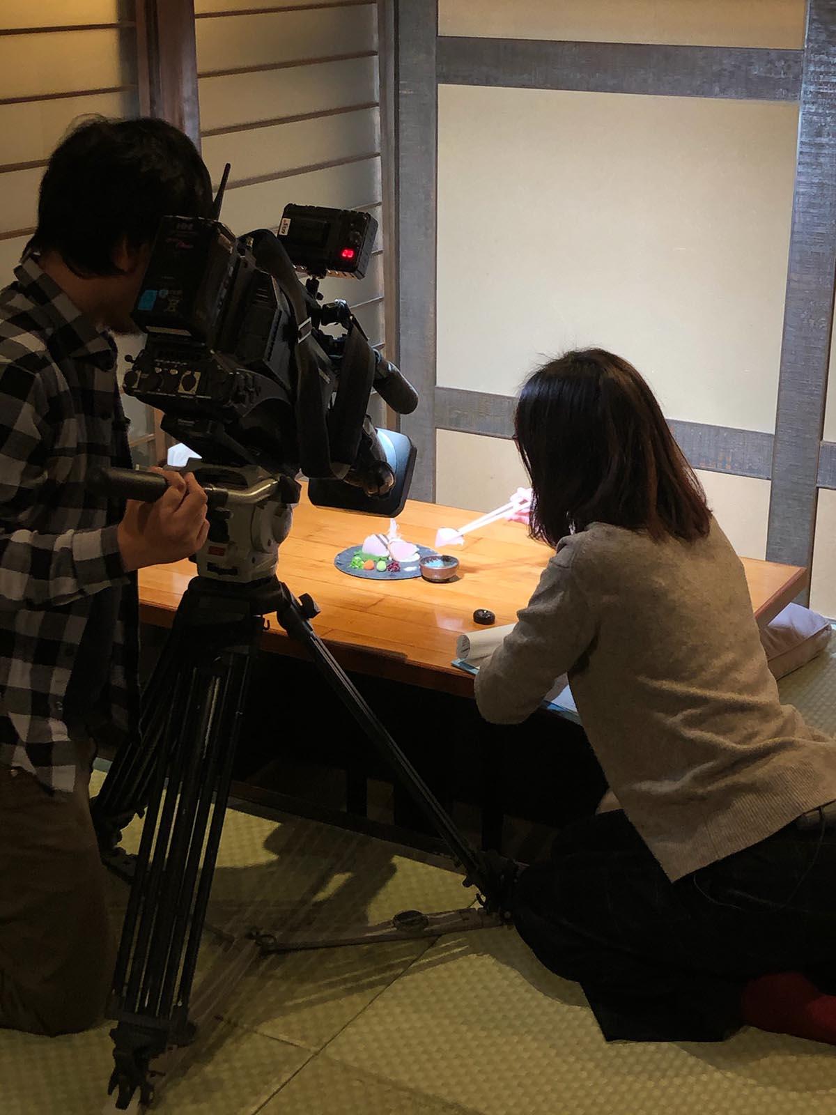 稲田屋米子店|山陰放送の比和野アナウンサーに取材していただきました