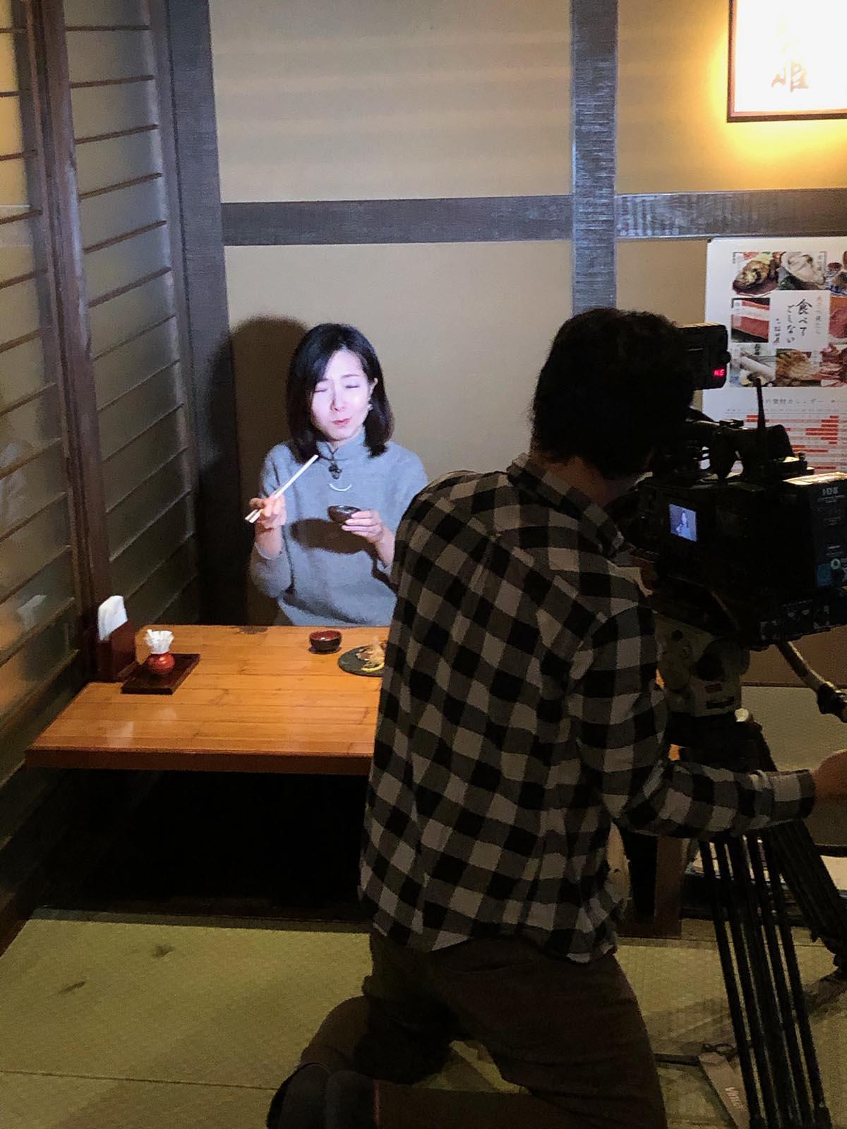 稲田屋米子店|山陰放送の比和野アナウンサーに取材していただきました!